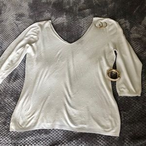 The Limited - Beautiful Ivory V Neck sweater